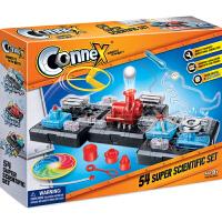 香港Connex小学生stem科学实验套装科技小制作儿童科普diy拼装科教8-12岁男孩电动电路益智玩具54种组合3合