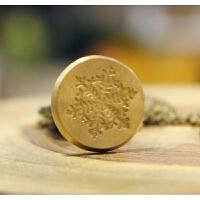 复古纯铜火漆印章 创意文具礼物封蜡欧式项链密封印图案生日