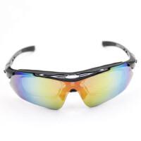 户外眼镜登山镜 骑行镜偏光5副镜片可配近视连体镜片