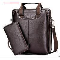 便携耐用旅行包休闲手提包公文背包男士竖款包包商务单肩包男包斜挎包