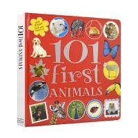 101 First Animals 动物启蒙认知纸板书 儿童英语找找乐 英文原版图书