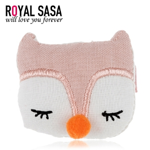皇家莎莎RoyalSaSa可爱布艺狐狸边夹韩版发卡通儿童发饰宝宝头饰小饰品