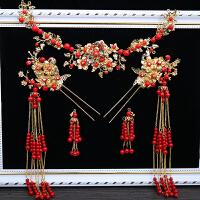 中式婚礼秀禾服新娘古装头饰流苏凤冠发饰结婚礼服套装2018新款
