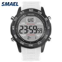 斯麦尔(SMAEL) 手表 电子表 1067男士石英表 闹钟日历显示橡胶带防水防震夜光表
