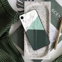 iphone6/6s手机壳苹果xr外套iphne7p个性8plus硅胶phone8pius玻璃iph 【时尚莫兰迪绿】