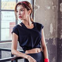 韩国MONODIO正品瑜伽服上衣女夏短袖上装宽松速干健身瑜珈运动t恤 MT0115