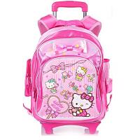 Hello Kitty 凯蒂猫 儿童拉杆箱包带防雨罩小学生拉杆书包661016