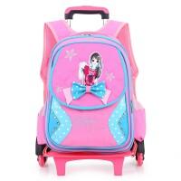 韩版新款可拆卸拉杆书包小学生儿童书包双肩背1-3-5年级