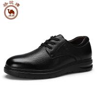 骆驼牌 秋季男鞋系带舒适商务休闲男皮鞋耐磨男士鞋子