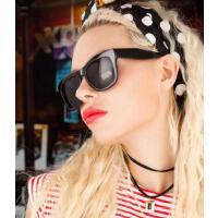 新款时尚防辐射眼镜 偏光太阳镜墨镜女潮 圆脸复古个性 眼镜 支持礼品卡