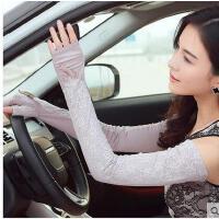 夏季防紫外线蕾丝长款手套女士防晒袖套开车防滑袖套