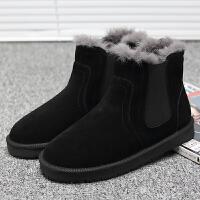 雪地靴男冬季短筒马丁靴棉鞋男加绒保暖棉靴短靴防水保暖男鞋