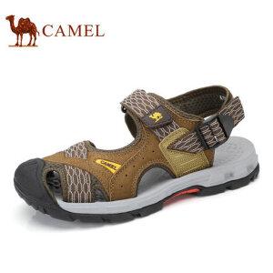 camel骆驼男鞋  夏季新品 户外休闲透气沙滩鞋户外露趾皮凉鞋