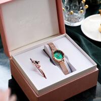 绿色小表盘手表女士ins风时尚简约气质女表学生