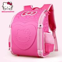 Hello Kitty凯蒂猫 KT1008C玫红 韩版幼儿园书包大班护脊儿童书包 当当自营