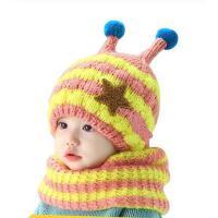 男女童帽子围巾2件套 宝宝韩版帽 围巾2件套 儿童帽子婴儿帽子6-12个月宝宝帽子毛线帽围巾加厚围脖