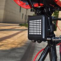 山地车自行车智能激光尾灯转向灯刹车灯骑行装备单车配件