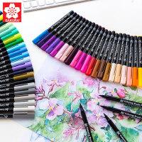 日本SAKURA樱花水性水彩笔48色软头马克笔24色漫画手绘设计画笔套装正品进口专业成人初学者插画动漫