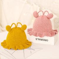 宝宝毛线帽子盆帽渔夫帽儿童女童婴儿女孩针织0-1-3岁