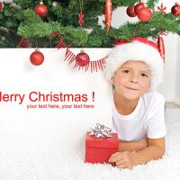 圣诞帽子圣诞节礼物儿童圣诞帽成人男女小孩老人头饰头箍Z