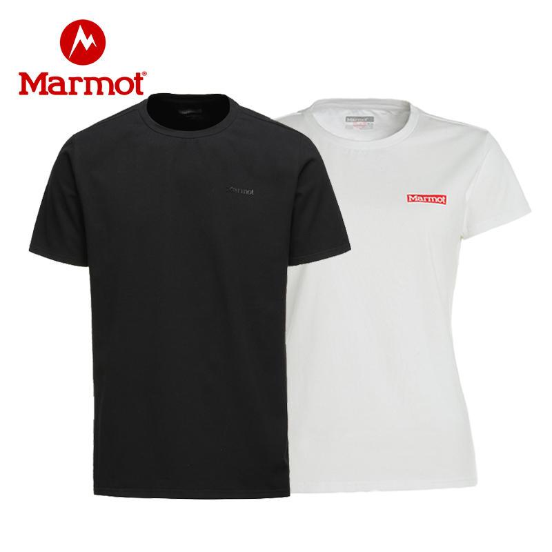 Marmot/土拨鼠户外休闲透气男女情侣短袖棉T恤 VIP专享96折
