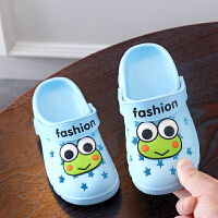 2019夏季新款童鞋�和��敉馍�┬�防滑�底����室外穿包�^�鐾闲�中童花�@鞋男女童居家洞洞�鲂��W生塑�z鞋