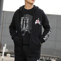 幸运叶子 Nike/耐克男装春季新款运动服休闲上衣宽松舒适透气连帽印花加绒保暖夹克外套CK2224-010