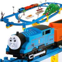 托马斯小火车套装轨道车大号多层 儿童火车轨道玩具电动男孩3-6岁