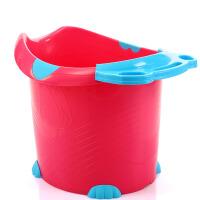 居家浴桶儿童洗澡桶 加厚塑料泡澡桶 可坐宝宝浴盆便携
