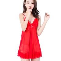 成人吊带睡裙女夏情趣睡衣内衣性感冰丝短透明薄纱火辣性感用品