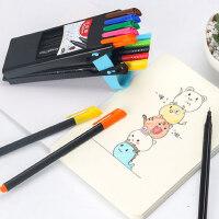 马培德记号划线笔儿童绘画细头美术彩色细笔勾边钩线极细描边水性小头彩色手绘笔儿童绘画笔画画勾线笔