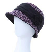秋冬中老年帽子女渔夫帽布帽夹棉保暖老人帽子中年妈妈帽