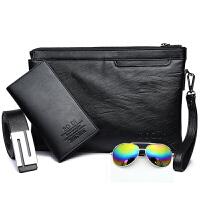 男士手包韩版男士手包信封包休闲手拿包大容量皮夹钱包手腕包商务包包