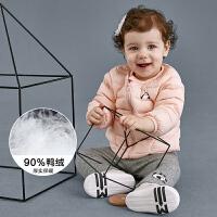 【4件7折价:139.93】迷你巴拉巴拉童装婴儿羽绒服2018冬新款男女宝宝印花长袖外出外套