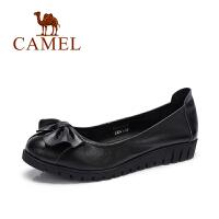 骆驼牌 女鞋 真皮单鞋软底鞋日常休闲单鞋女真皮平底鞋休闲鞋妈妈鞋