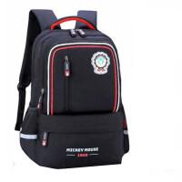 迪士尼书包 0436学生背包 校园风黑色双肩包 男童休闲包 旅行包