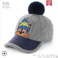 秋冬宝宝小孩棒球帽鸭舌帽冬帽冬季男童帽子时尚潮汪汪队儿童帽子