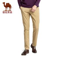 骆驼男装 2017春季新款时尚修身小脚休闲裤拉链商务休闲长裤子男