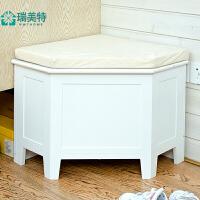 瑞美特欧式换鞋凳储物凳创意沙发凳鞋凳式鞋柜收纳柜布艺现代简约