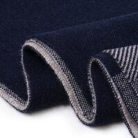 男式针织围巾男秋冬季简约百搭男士围脖冬季