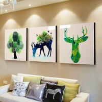 客厅装饰画沙发背景墙挂画壁画北欧三联画现代简约大气餐厅卧室画SN8179 80*80 整套价格