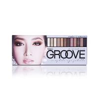 泰国Mistine粉饼底妆3d眉笔系列 Groove12色大地裸妆眼影盘 9048