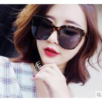 大框显瘦女太阳镜 户外墨镜 新款韩版复古墨镜女士圆脸明星款黑色防晒眼镜太阳镜