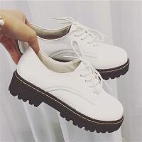 韩版春季新款12厘米松糕跟厚底休闲鞋女鞋运动鞋内增高超高跟单鞋