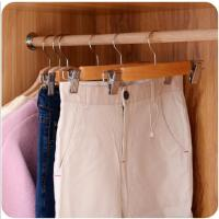 衣架带夹子裤架裤夹家用防滑伸缩衣柜加厚裤架裤挂裤夹
