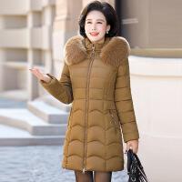 中老年棉衣女中长款妈妈装棉袄40-50岁中年加厚羽绒冬装外套