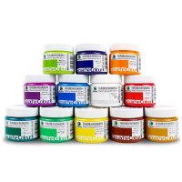 马利1100水粉画颜料浓缩广告画笔调色美术100ml罐装水粉颜料套装