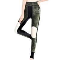 冬季保暖裤厚加绒打底裤大码外穿一体裤高腰护膝棉裤子