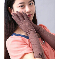 中长款防紫外线防晒手套 新款甜美蕾丝超薄透气开车骑行驾驶女手套