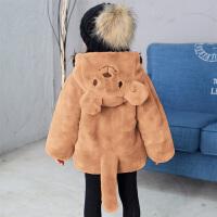 女童秋冬装毛毛衣服外套宝宝